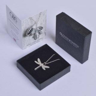 Dragonfly Necklace Pewter Jewellery Gifts UK Handmade | Image 4