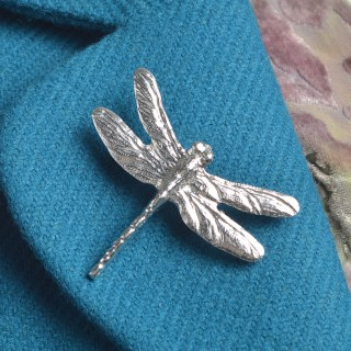 Dragonfly Pewter Brooch UK Handmade Dragonfly Gifts | Image 3