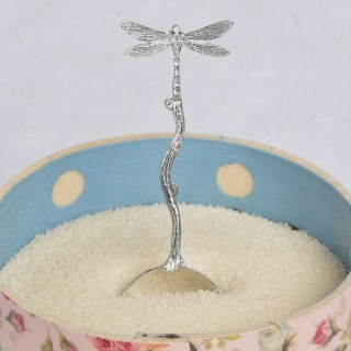 Dragonfly Pewter Sugar Spoon, UK Handmade Dragonfly Gifts | Image 4