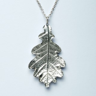 Oak Leaf Necklace English Pewter jewellery Gifts | Image 4