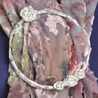 English Rose Pewter Scarf Ring Gifts | Image 4