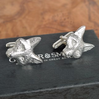 Fox Cufflinks English Pewter Fox Gifts for Men | Image 3