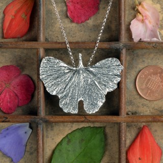 Ginkgo Leaf Necklace Pewter Jewellery UK Handmade | Image 2