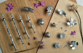 Seed Pod Cabinet knobs Solid Pewter Door Handles | Image 7