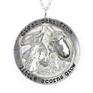 Great Oaks from Little Acorns Grow Necklace English Pewter Gifts | Image 4