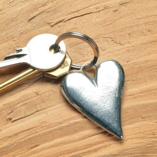 Heart Pewter Keyring, UK handmade Heart Gifts | Image 2