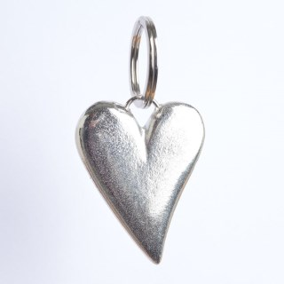 Heart Pewter Keyring, UK handmade Heart Gifts | Image 3