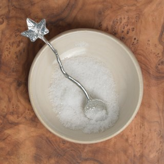 Ivy Leaf Tiny Spice Pewter Spoon. Gifts For Food Lovers | Image 2
