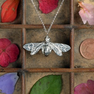 Bee Necklace (Large) English Pewter Bee Jewellery Gifts | Image 2