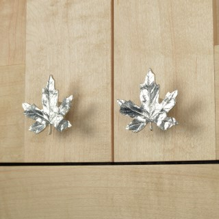 Maple Leaf Cabinet Handle Solid Pewter Door Knobs | Image 7