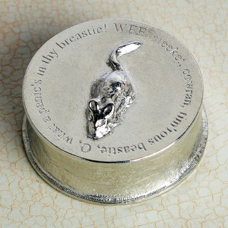 Robbie Burns 'To A Mouse' Pewter Trinket Box | Image 5