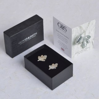 Pewter Oak Leaf Cufflinks, English Pewter Cufflink Gifts For Men | Image 4