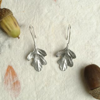 Oak Leaf Drop Earrings | Image 2