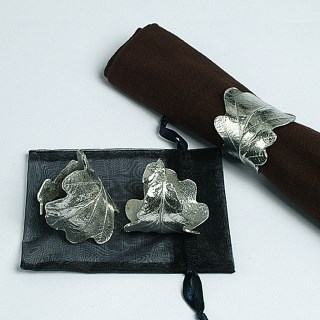 Oak Leaf and Acorn Napkin Rings | Image 4