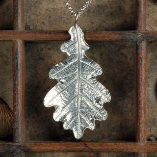 Oak Leaf Necklace English Pewter jewellery Gifts | Image 2
