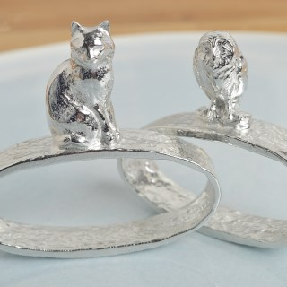 Owl and Pussycat Napkin Rings | Image 2