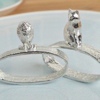 Owl and Pussycat Napkin Rings | Image 3