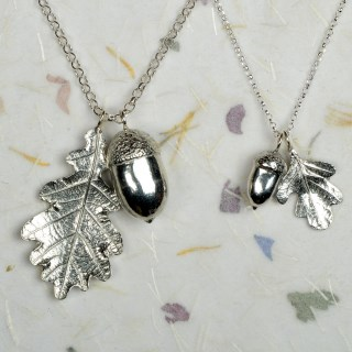 Acorn and Oak Leaf Necklace Pewter Jewellery Gifts | Image 6