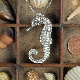 Seahorse Necklace, Pewter & Silver Seaside Jewellery Gifts | Image 2