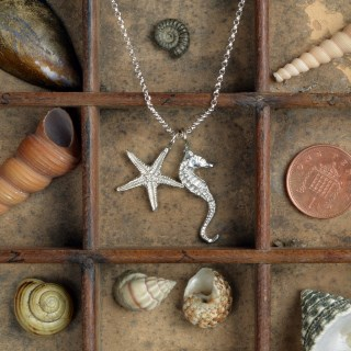 Seahorse and Starfish Necklace Pewter Jewellery Gifts UK Handmade | Image 3