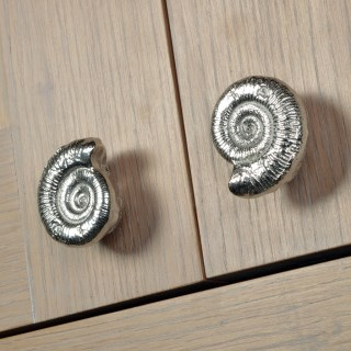 Ammonite Fossil Pewter Door Handle Small | Image 4