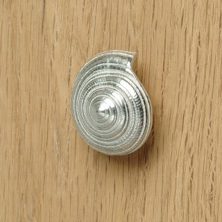 Pewter Seashell Drawer Pulls Spiral Shell Furniture Handles | Image 5