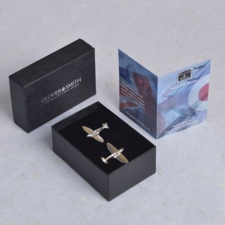 Spitfire Cufflinks PERSONALISED | Image 2