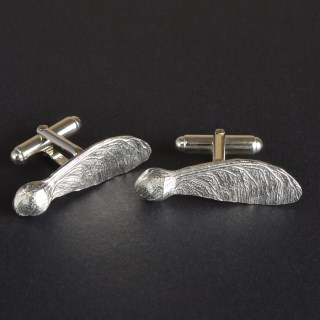 Sycamore Key Cufflinks, Pewter and Silver Cufflink Gifts | Image 3