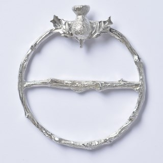 Scottish Thistle Pewter Scarf Ring | Image 2