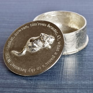 Robbie Burns 'To A Mouse' Pewter Trinket Box | Image 6