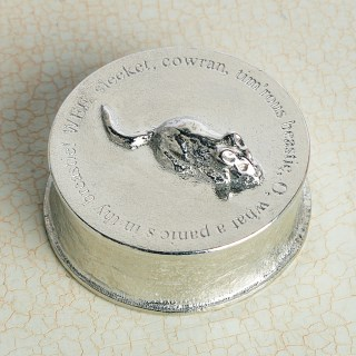 Robbie Burns 'To A Mouse' Pewter Trinket Box | Image 4