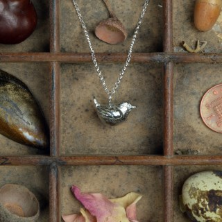 Wren Bird Necklace, Pewter Jewellery For Bird Lovers | Image 2