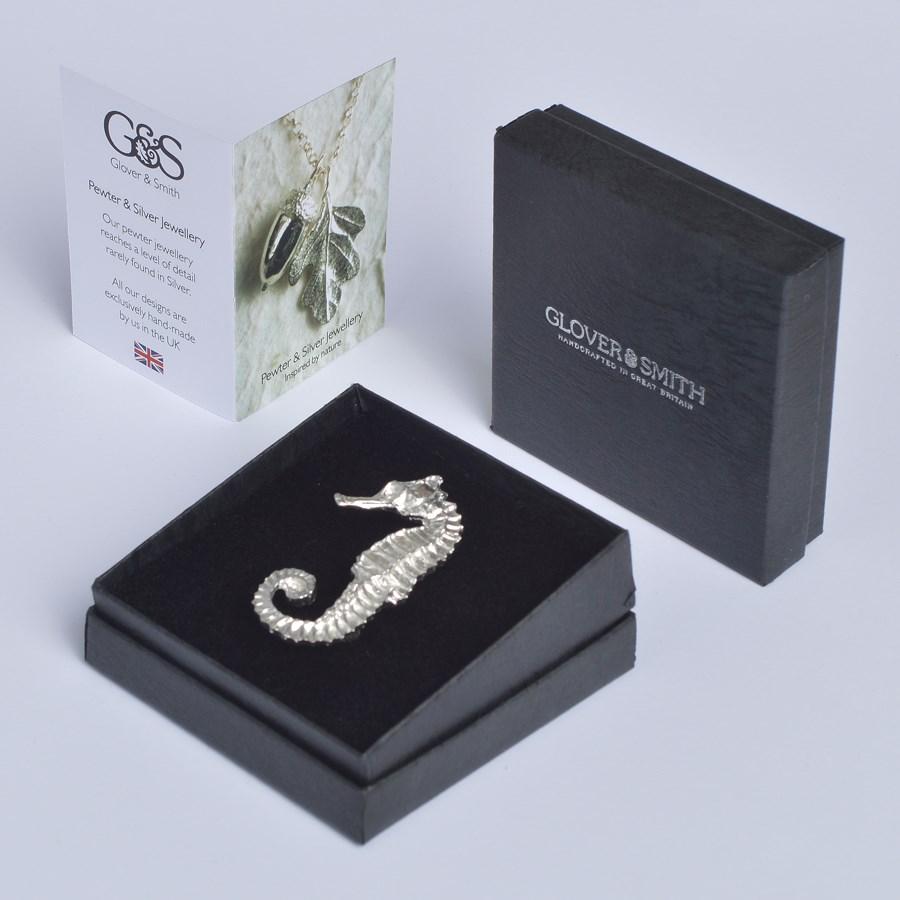 Seahorse Brooch Uk Made Seaside Jewellery Gifts