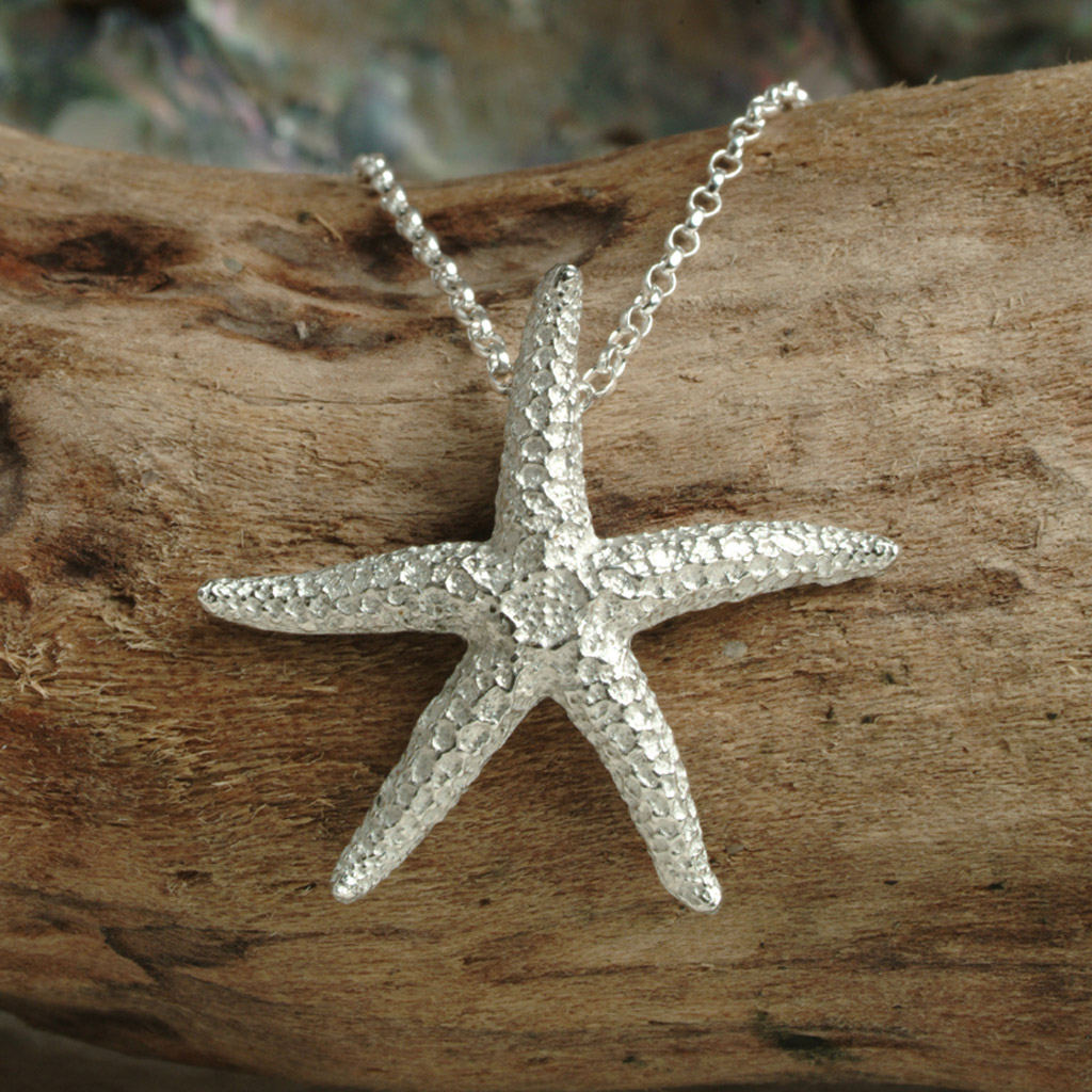 Starfish Necklace Uk Handmade Pewter Seaside Jewellery