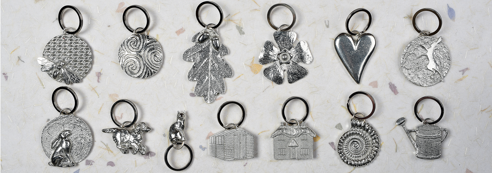 English pewter key ring gifts collection by Glover and Smith
