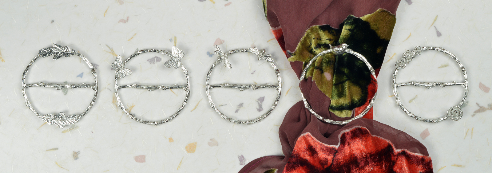 English Pewter Scarf Rings