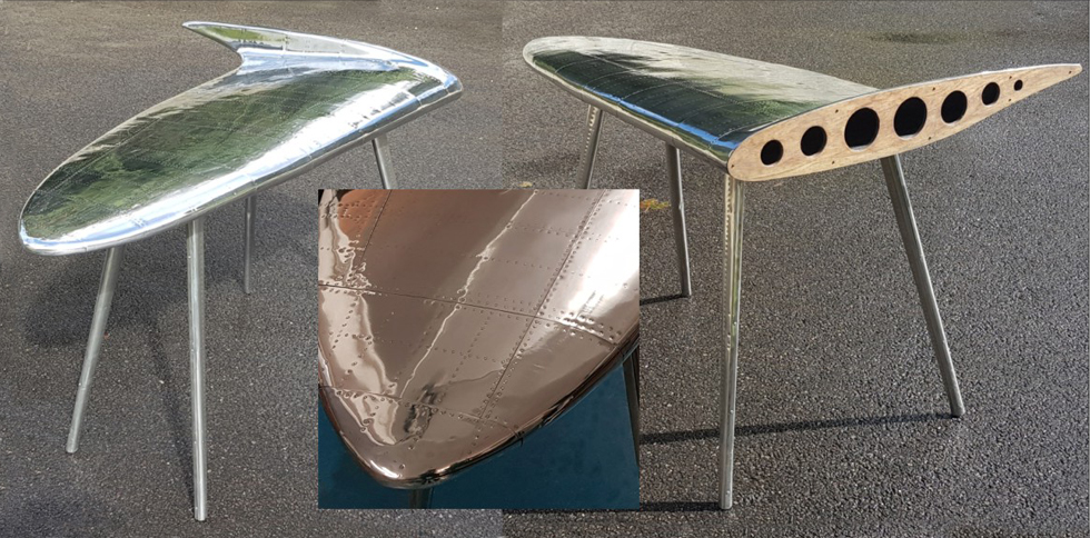 Spitfire pewter desk, bespoke pewter designs